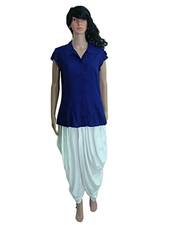 48cef01921 Patrorna Blended Women s Shirt Top and Dhoti Pant Ethnic Suits Set