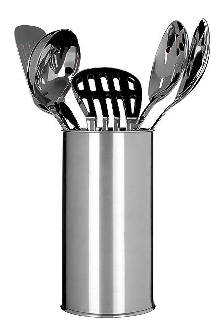 Premier Housewares - Juego de 5 Utensilios de Cocina con Recipiente (Acero Inoxidable)