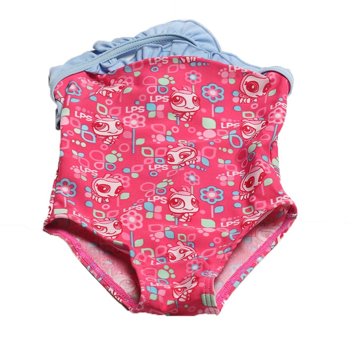 Lemonkids® Baby Girls Kid One Piece Bikini Swimwear Bathing Swim Suit Bee Faddist Spark Malls-CA