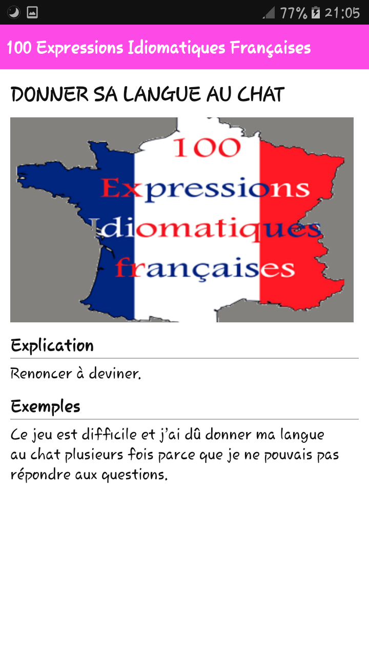 Amazon Com 100 Expressions Idiomatiques Francaises Appstore For Android