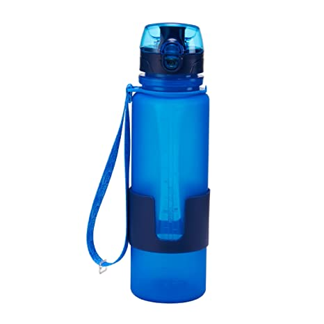 amazon com design for living 5134365 silicone water bottle with