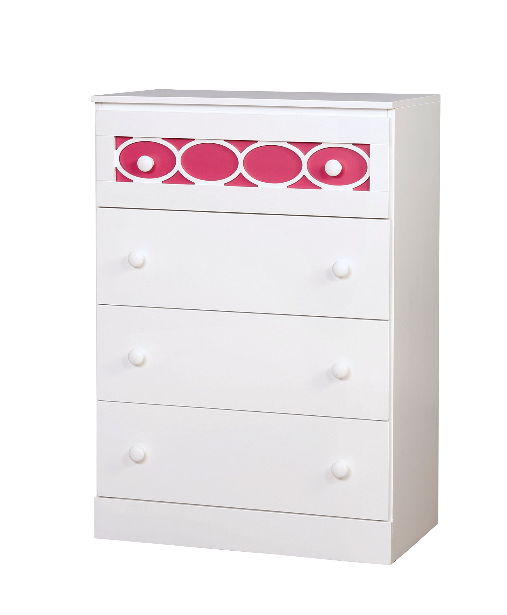 HOMES: Inside + Out IDF-7853PK-C Roka Chest Contemporary, Pink by HOMES: Inside + Out