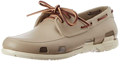 208aabb7ff crocs Men's Beach Line Men Tumbleweed and Stucco Rubber Boat Shoes - M11  (14327-