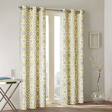 amazon com yellow curtains for living room modern contemporary rh amazon com White Curtains for Living Room Living Room Yellow Walls