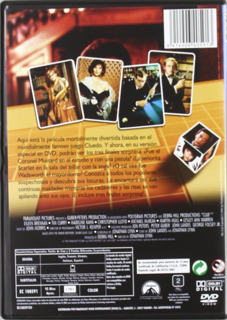 Cluedo el juego de la sospecha [DVD]: Amazon.es: Eileen Brennan ...