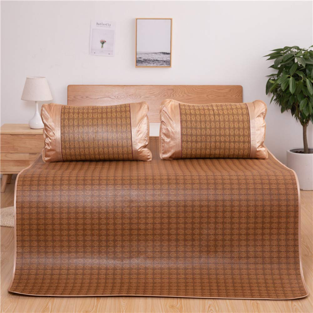 冷却 夏の睡眠マット, 籐マット, 式 ベッドパッド 丈夫 肌に優しい エアコン マット スリーピース-b B07RY96JQW