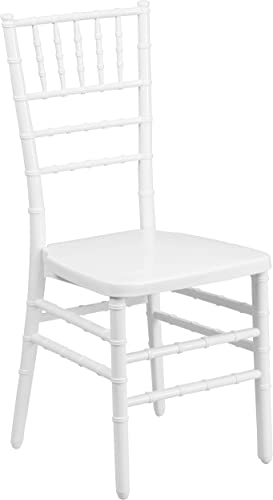 Flash Furniture HERCULES PREMIUM White Resin Stacking Chiavari Chair