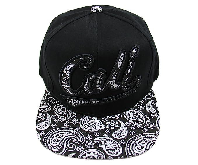 Top Level California Paisley Snapback Cap (Black) at Amazon Men s ... 95747ceaf77