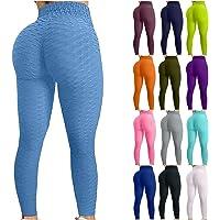 Keepwin Leggins Push Up Mujer Pantalones Cintura Alta Yoga Mallas de Deporte de Mujer Elástico Deportivas Pantalon…