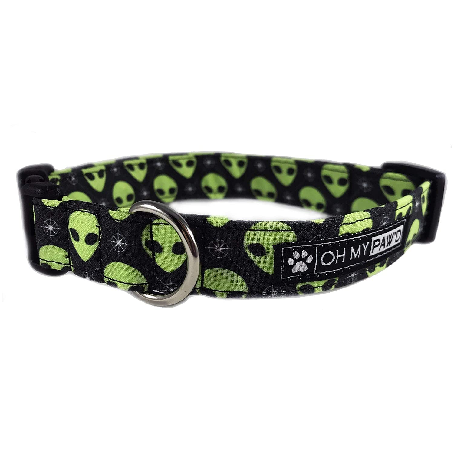 Green Martian Head Dog or Cat Collar for Pets Size Extra Small 5/8