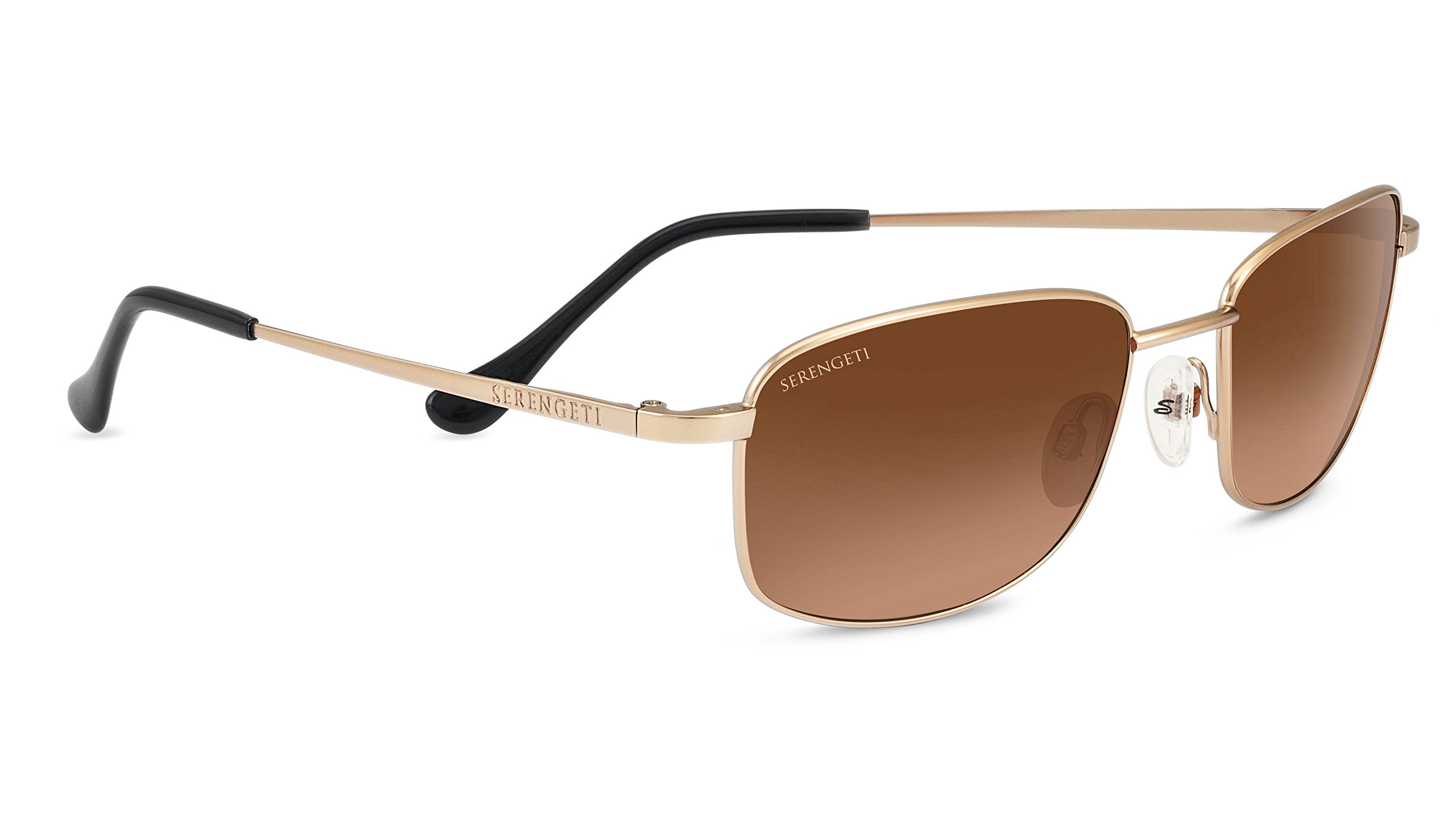 Serengeti 8385 Palinuro Drivers Gradient Sunglasses, Satin Soft Gold