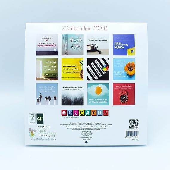 21 x 21 Calendario de pared Divertido 2018 marca Edicards con fotograf/ías y frases divertidas e ingeniosas Impreso en papel fotogr/áfico de alta calidad