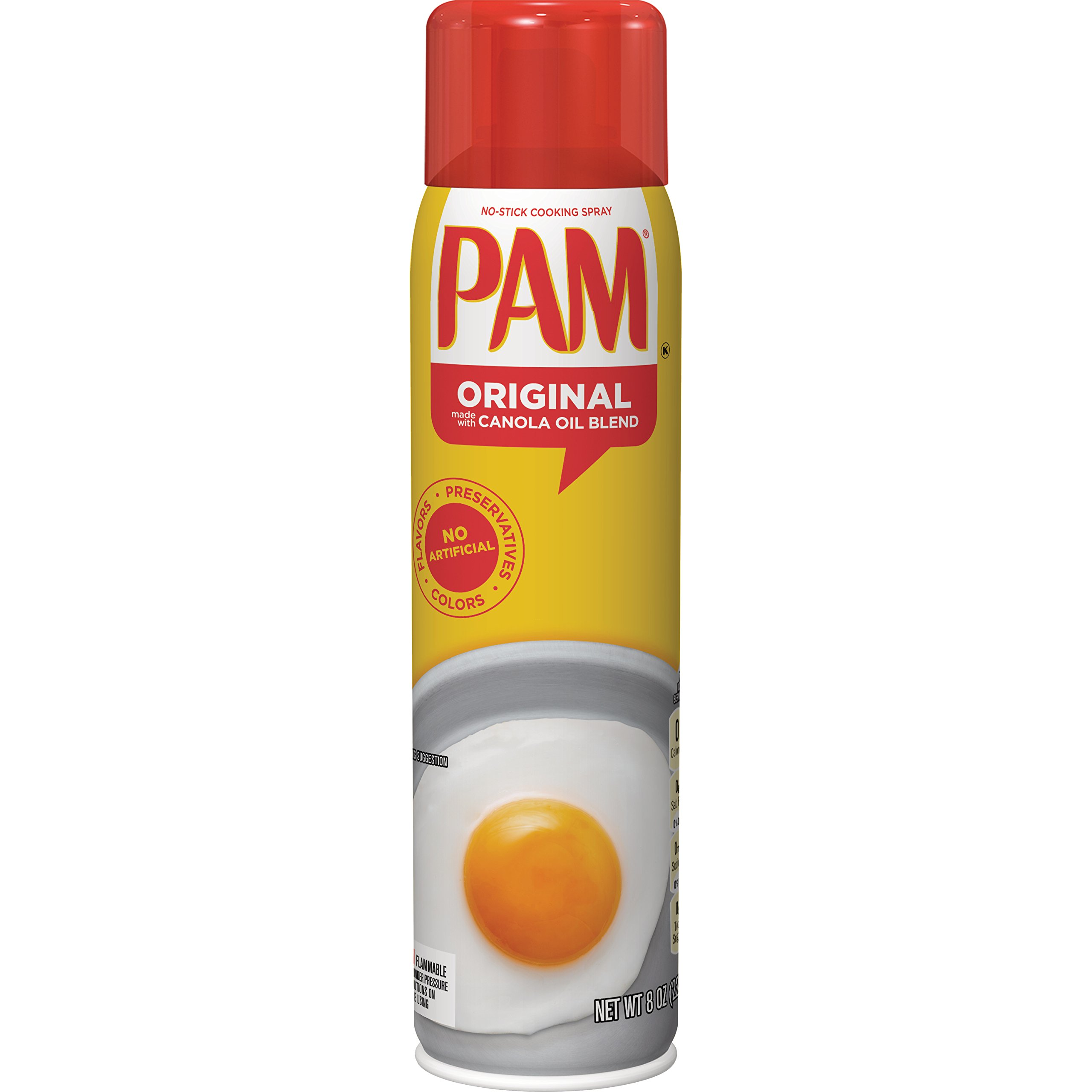 PAM Original No-Stick Cooking Spray, 6-Ounce Cans (Pack of 12)