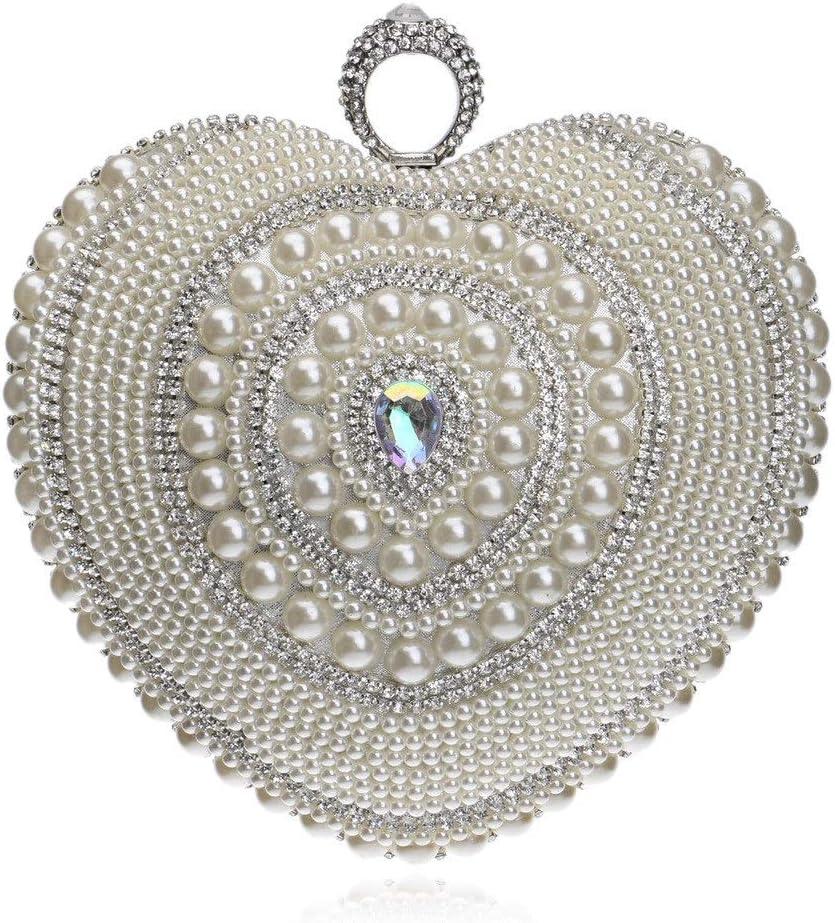 Rawallcb Prom Clutch Handbag per Donna, Pendente per la Cerimonia Nuziale per Le Signore (Colore : A) A