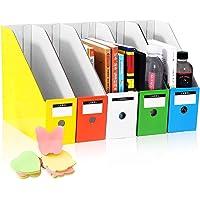 HINATAA Caja de Almacenamiento de la Oficina Revistero,5 PCS Porta Revistas Kraft A4 Organizador de Papel,Organizador de…