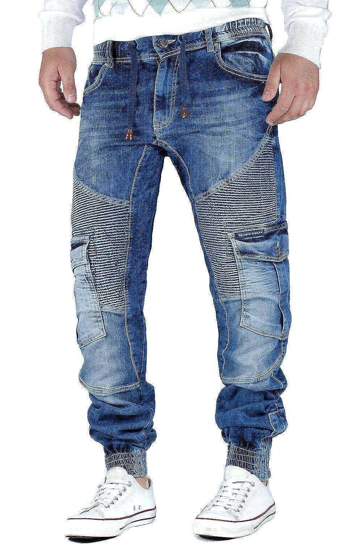 Cipo /& Baxx Damen Slim Fit Jeans Hose Denim Freizeit Teilungsnaht Streetwear