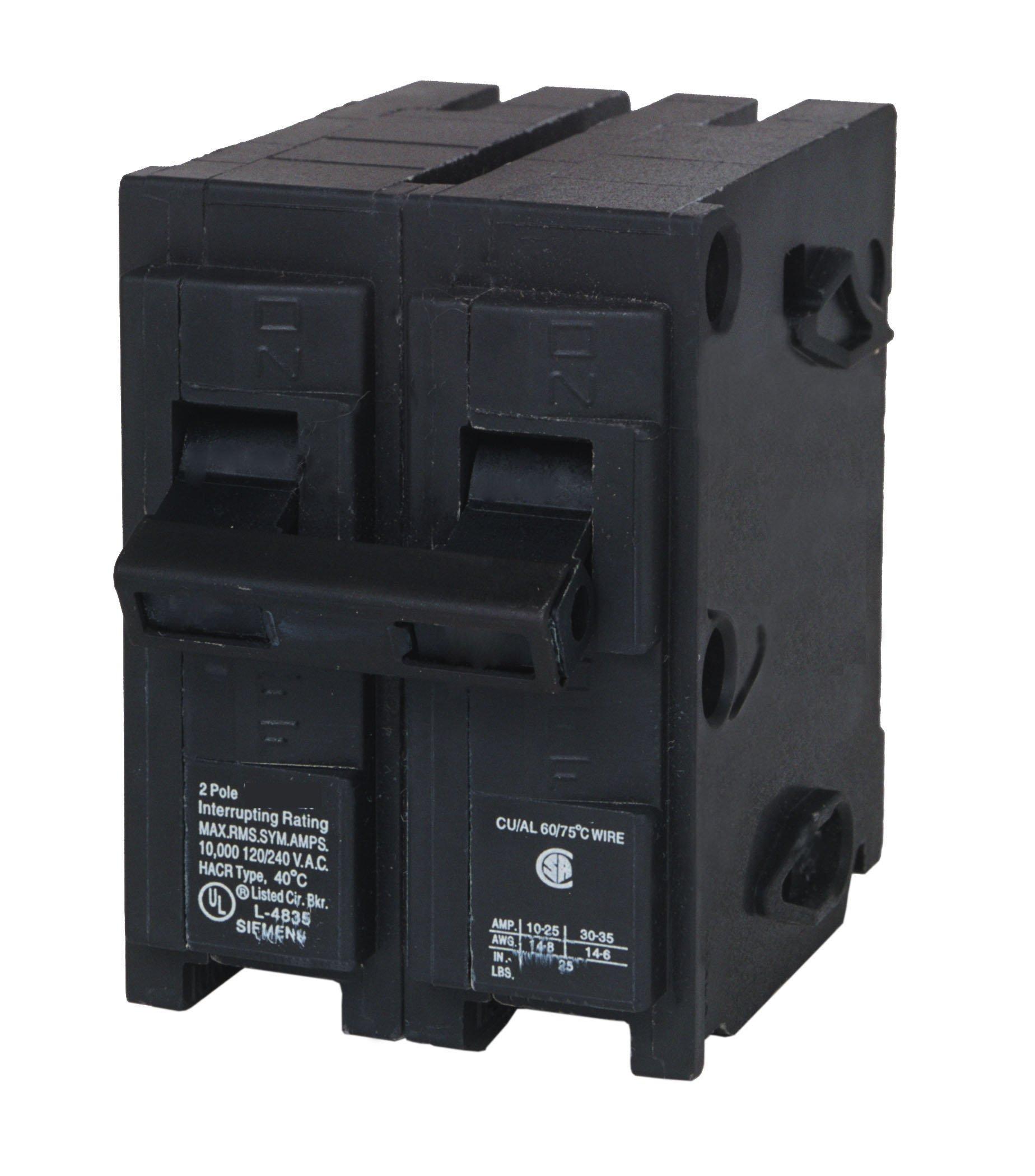 Q2125H 125-Amp Double Pole 22kA Type QPH Circuit Breaker by SIEMENS