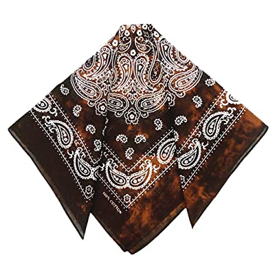 Xdodnev Japanese Vintage Washed Tie-Dye Paisley Floral Unisex Cotton Pocket Square Scarf Headband Bandana Hip-Hop Wristband Neck Tie: Home & Kitchen