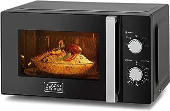 Black+Decker 20L 700W Microwave Oven, Black - MZ2010P-B5