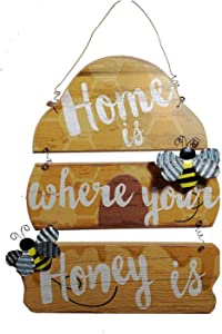 Bee Decor Wall Sign Home is Where Your Honey is