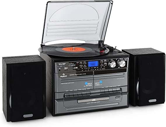 Auna TC-386WE - Lector de CD para equipo de audio, negro: Amazon ...