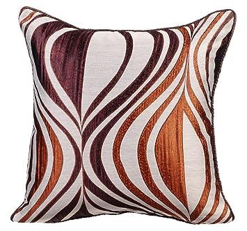 Cuivre coussin décoratif pour canapé, 65x65 inch housse coussin