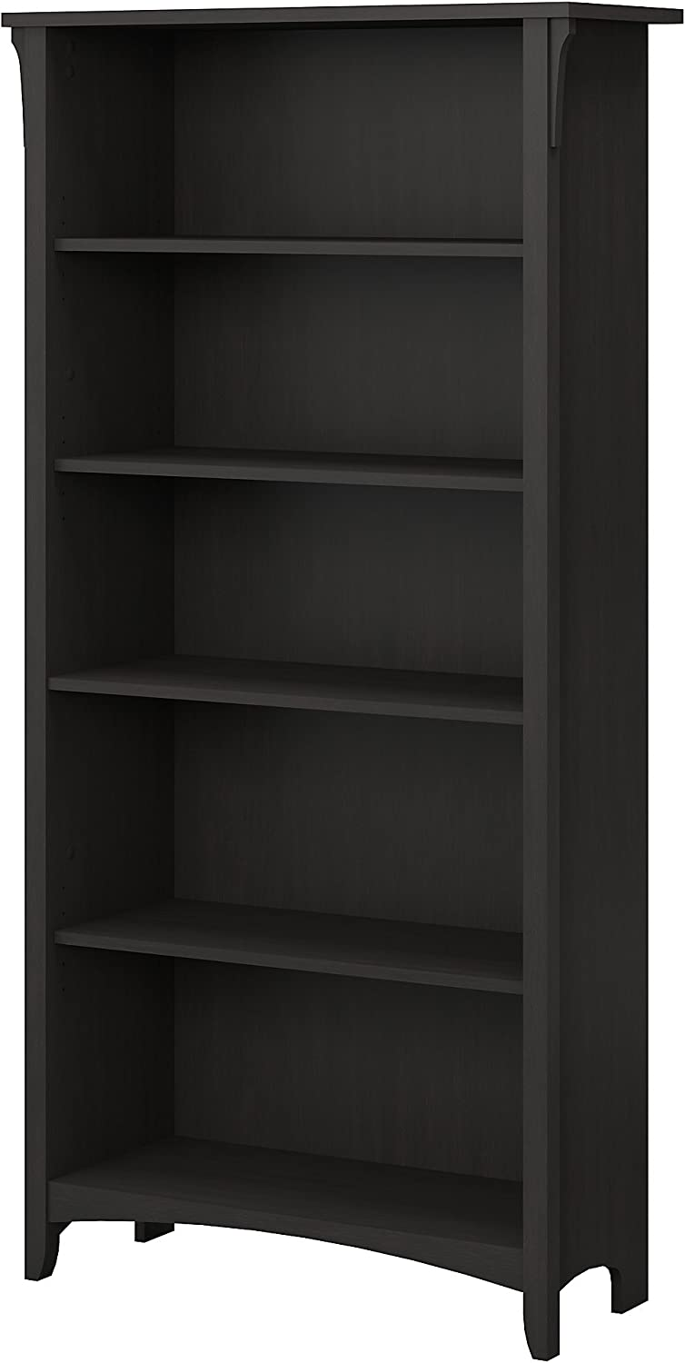 Bush Furniture Salinas 5 Shelf Bookcase in Vintage Black