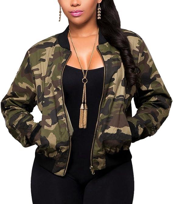 camouflage jacke damen lang