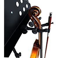 Vizcaya Violin Stand VLH20 Violin Hanger With Bow Holder for Music Stand/Microphone Stand (1 Pack)