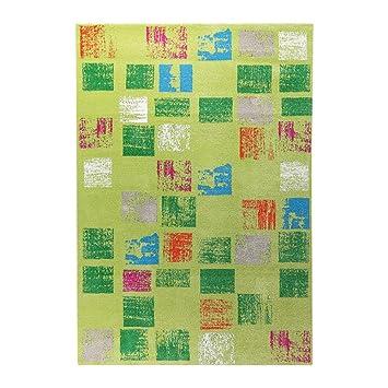 Tapis Esprit Home En Polypropylene Design Vert Cuadros Amazon Fr