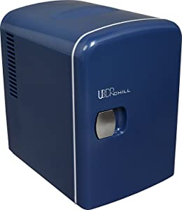 Uber Appliance UB-CH1 Uber Chill 6 Can Retro Personal Mini Fridge (Navy Blue)