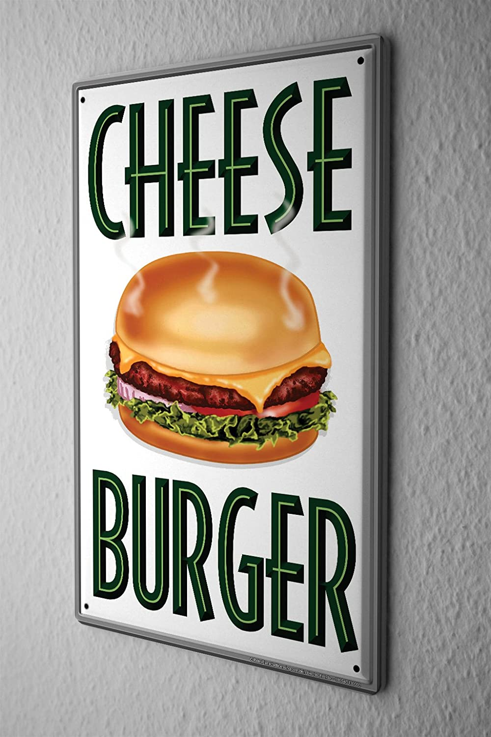 LEotiE SINCE 2004 Blechschild Küchen Deko Cheese Burger Wand Metall ...
