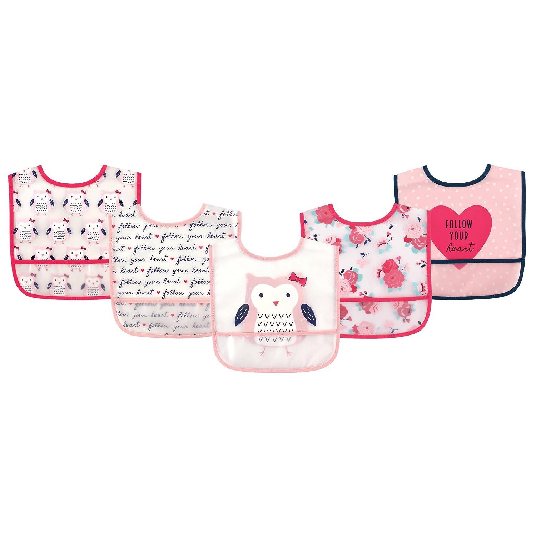 Hudson Baby Waterproof Bib with Crumb Catcher Pocket, Fox 50960_Fox