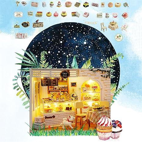 Amazon Com Exquisite Diy Wooden Cake Shop House Cake Diary