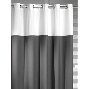 Sealskin Extra Long Hookless Shower Curtain 72 X 78 Inch Doppio Gray