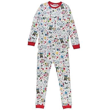 63a305ac58 Boboli Mädchen Interlock Pyjamas for Girl Zweiteiliger Schlafanzug,  Mehrfarbig (Print 9562), 98