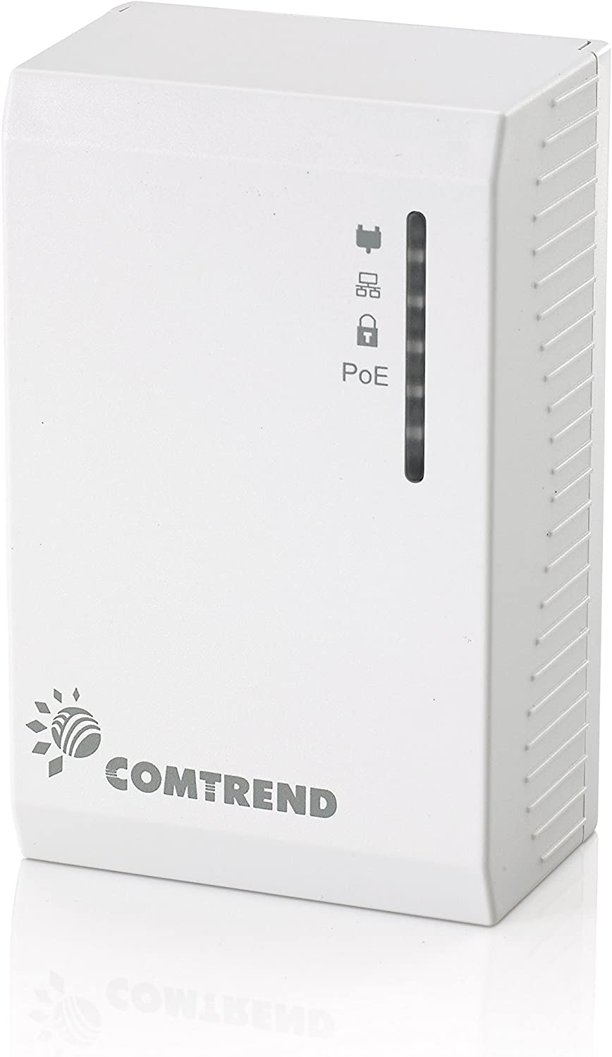 Comtrend G.hn 1200 Mbps Powerline Ethernet Bridge Adapter with Power Over Ethernet POE PG-9172PoE Single Unit (2-units required)
