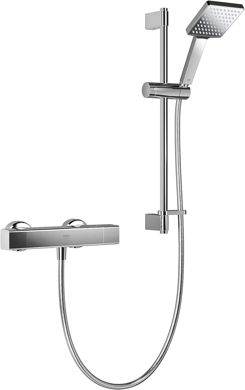 Mira Showers 1.1901.001 Honesty Single Outlet Square Bar Valve Mixer Shower, Chrome
