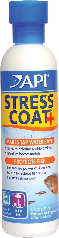API STRESS COAT Aquarium Water Conditioner 8-Ounce Bottle