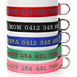 Customize Dog Collar with Name, Embroidered Name Phone Number Pet Collar, Personalized ID Collar for Dogs and Cat
