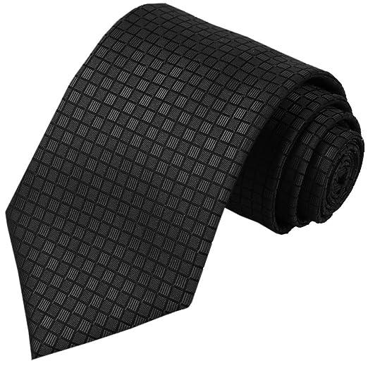 c8d48505704c Amazon.com: KissTies Black Tie Mens Necktie Wedding Ties + Gift Box:  Clothing