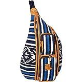 STS Ranchwear Durango Serape Hiker Sling Bag Navy Blue/White/Light Blue One Size