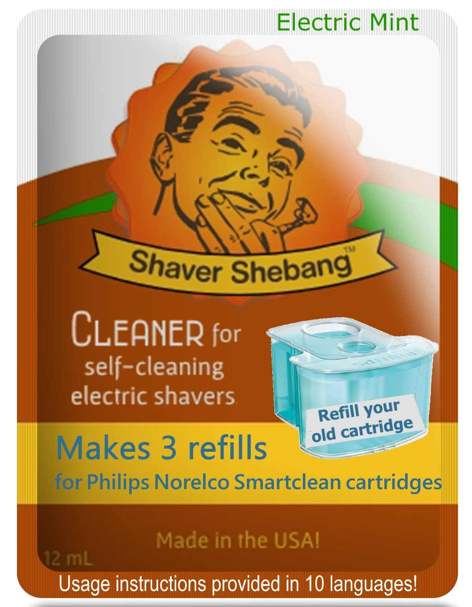 Philips Norelco SmartClean Mint, 9 cartridge refills=3 pack Shaver Shebang Organek Living