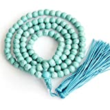 Ovalbuy 8mm 108 Howlite Beads Buddhist Prayer Rosary Mala Necklace