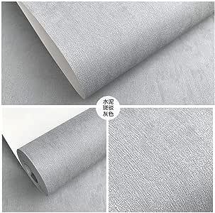 Color de pigmento puro gris cemento gris oscuro papel pintado no ...