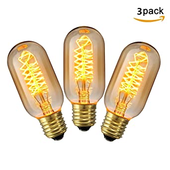 Kingso 3 Pack E27 Edison Ampoule A Incandescence Vintage Lampe