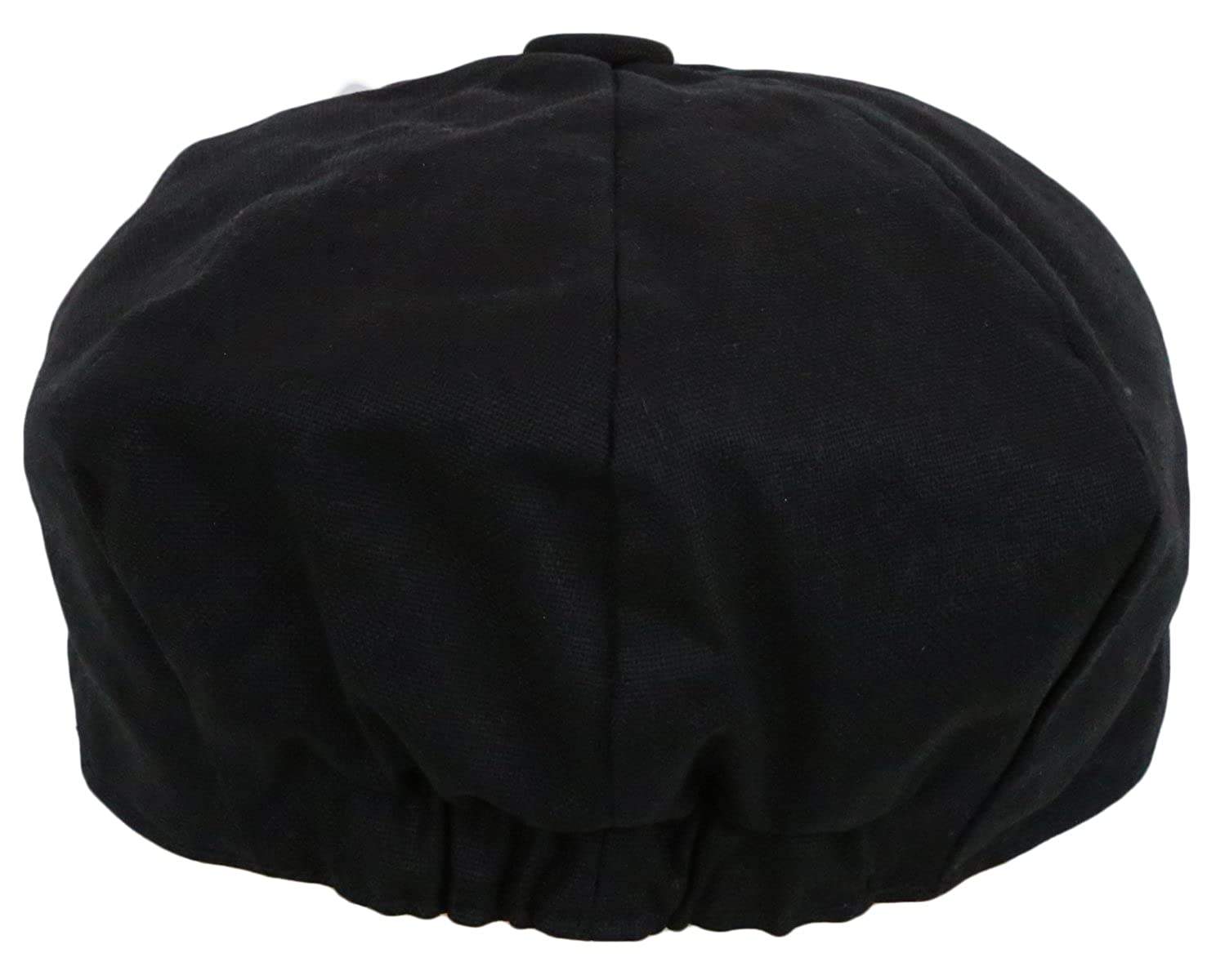 b17df616476 Men s Newsboy Linen Applejack Gatsby Collection Ivy Hats - Black at Amazon  Men s Clothing store