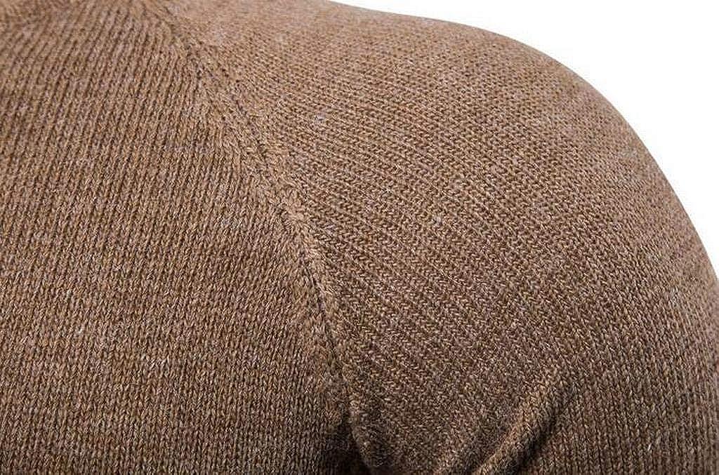 JYZJ Men Long Sleeve Knit Slim Fit Plain Pullover Sweaters Jumper