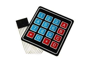 Teclado Matriz Membrana 4x4 Modulo Teclado matricial: Amazon.es: Electrónica