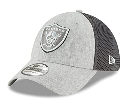 95c00e86eb047a Image Unavailable. Image not available for. Color: New Era Oakland Raiders  NFL 39THIRTY Heathered Neo Pop Flex Fit Hat